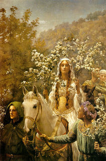 ジョン・コリア『グィネヴィア王妃の五月祭の祝い』(1900年).jpg